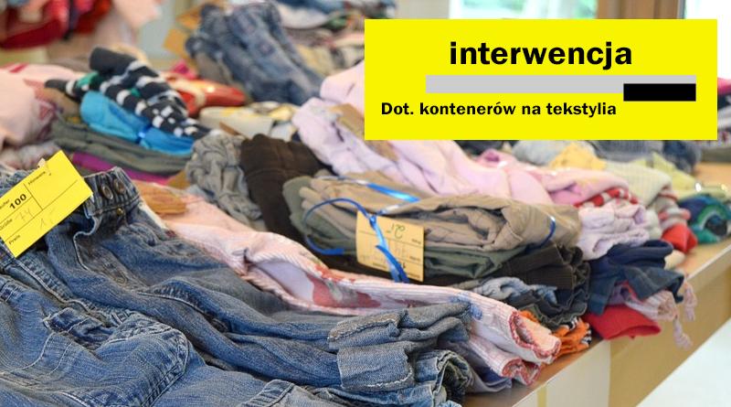 Kontenery na tekstylia!