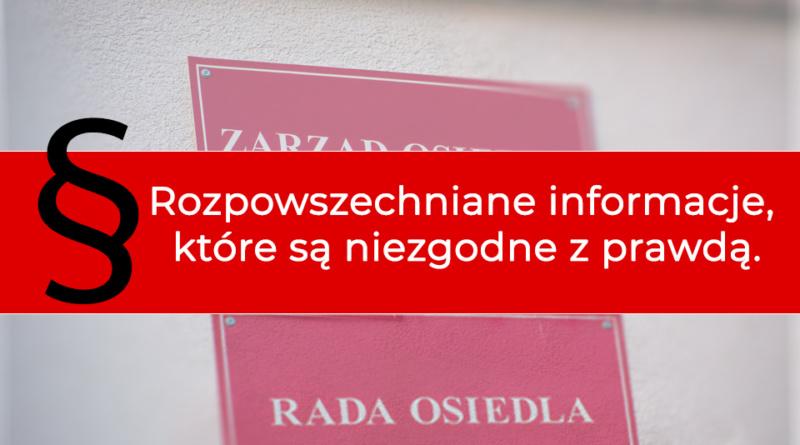Informacje z Rady Osiedla