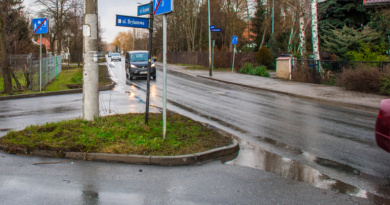Nowy chodnik przy ul. Kurpiów.